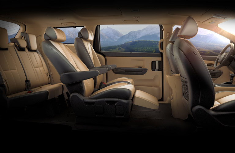 2016 kia sedona interior lounge seating cargo space
