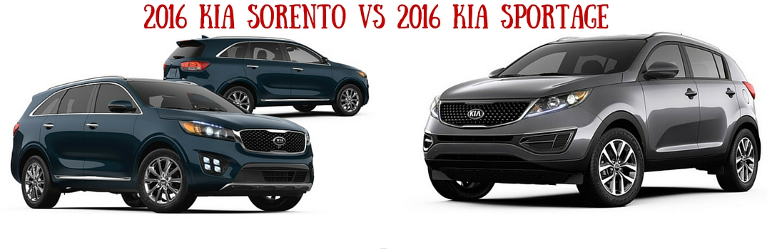 2016 kia sorento vs 2016 kia sportage. Black Bedroom Furniture Sets. Home Design Ideas