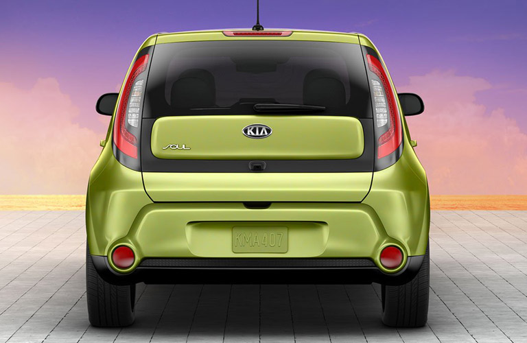 2016 kia soul green rear