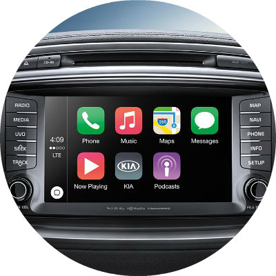 apple CarPlay and Android Auto capability 2017 kia forte