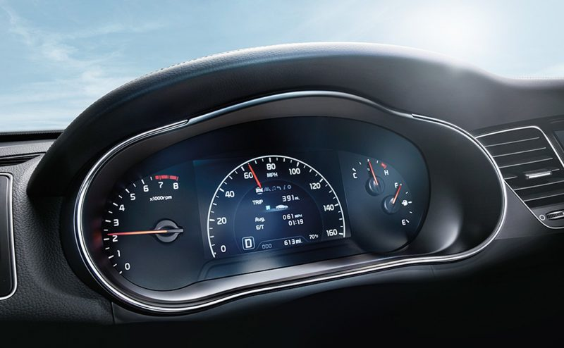 2016 kia cadenza interior gauges display