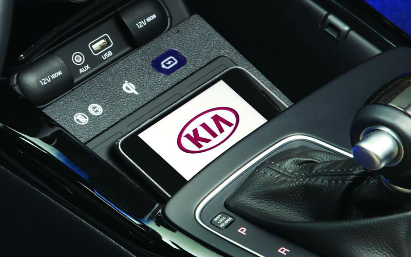 2017 kia sorento wireless smartphone charging