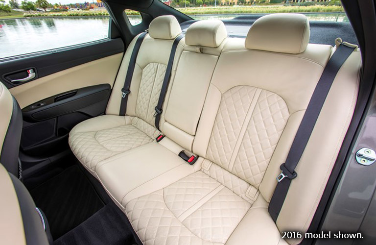 2017 kia optima interior rear seats leather