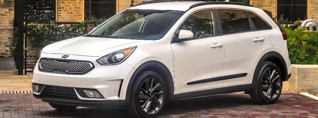 White 2017 Kia Niro Touring Launch Edition in Driveway