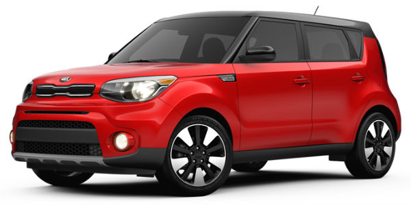 2017 Kia Soul Inferno Red/Black Exterior