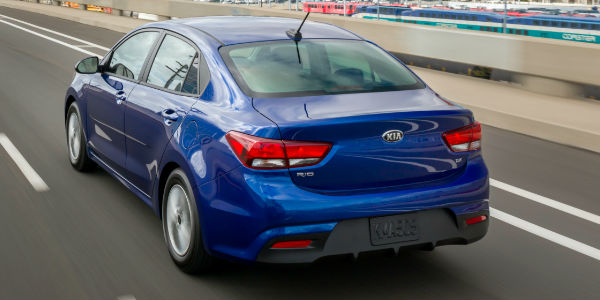 Blue 2018 Kia Rio Sedan Rear Exterior