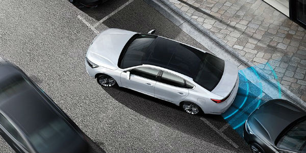 White Cadenza Showing Rear Parking System