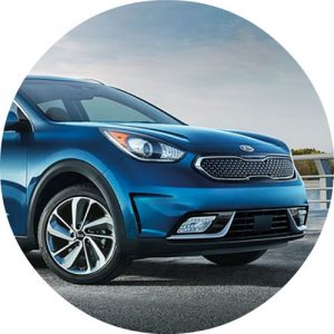 2017 Kia Niro model in blue