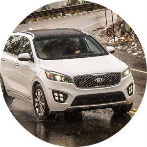 2017 Kia Sorento model in white