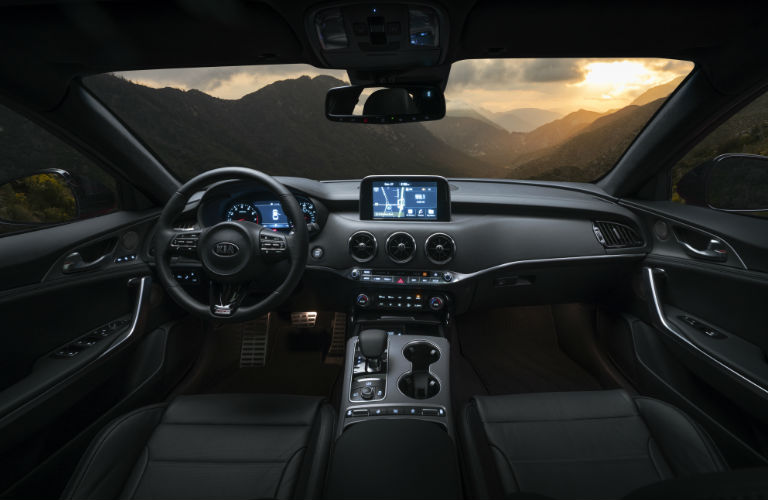 2018 Kia Stinger command center in black