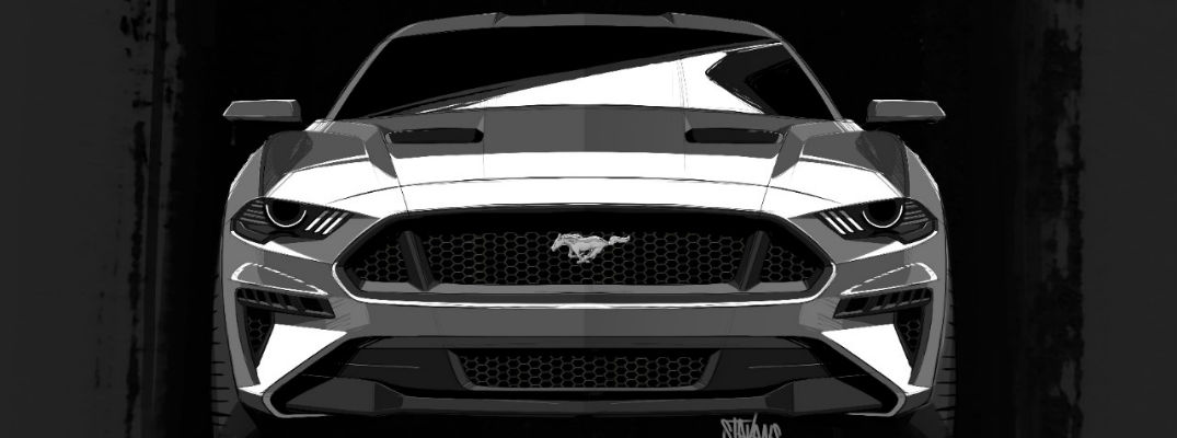 2018 ford mustang grille headlights redesign