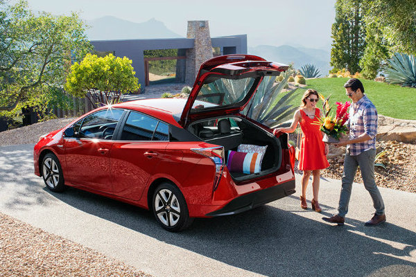Couple with 2016 Toyota Prius