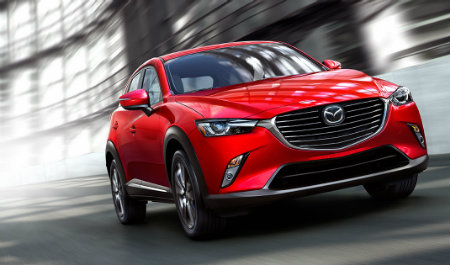 2016 Mazda CX-3 in red paint color