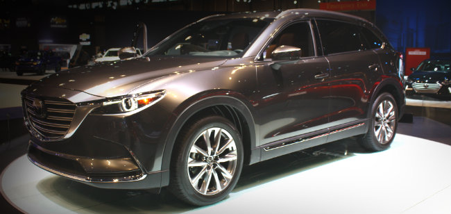 2016 mazda cx-9 new grille design and exterior design at chicago auto show