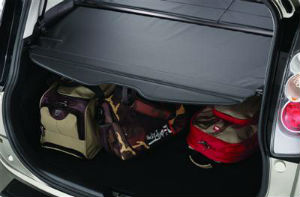 The Mazda Cargo Cover will help keep your items in place.