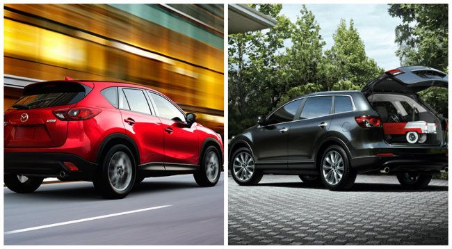 mazda cx-5 and cx-9 cargo space room