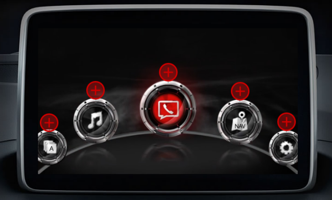 The Mazda Connect infotainment system is available for the 2015 Mazda 3.