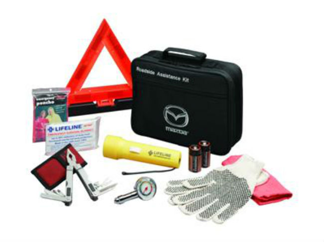 The Mazda Roadside Assistance kit is the perfect accessory for any car.