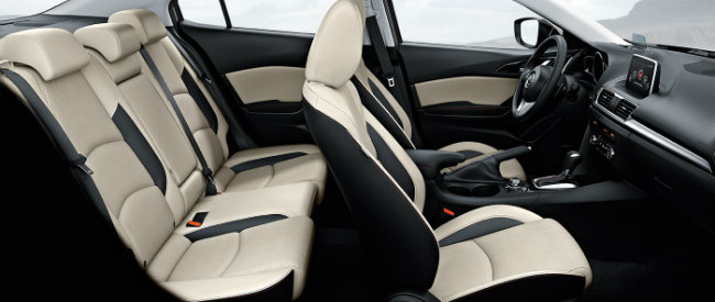 mazda two tone seats with parchment and black