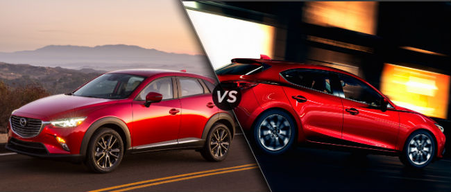 Difference Between 2016 Mazda CX-3 vs Mazda 3 Hatchback