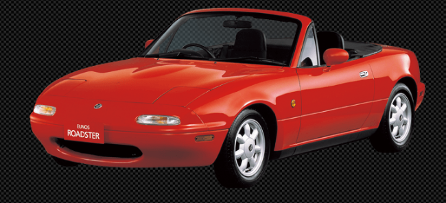 This is what the first Miata from 1989 looked like.