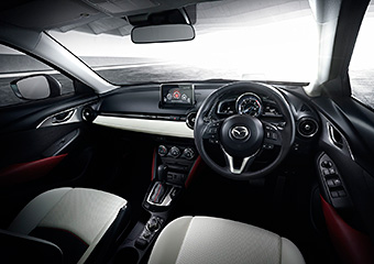 interior of the mazda cx-3