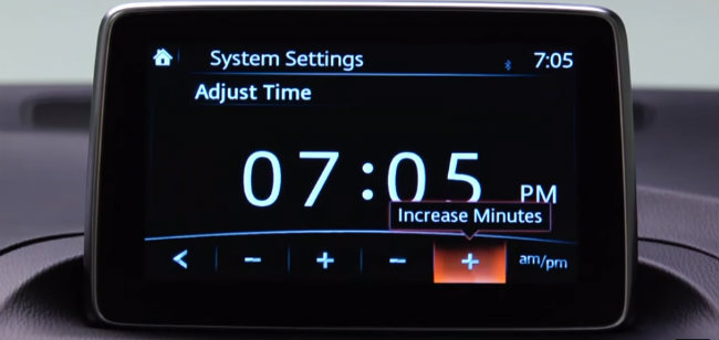 How to Set the Clock in Your Mazda