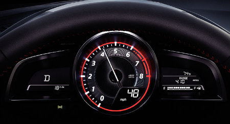 mazda transmission mode and rpm display