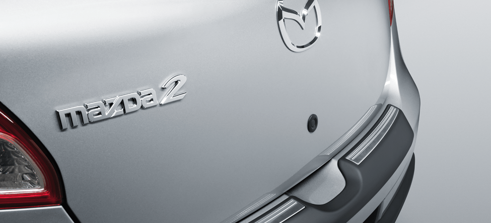rear view of mazda bumper