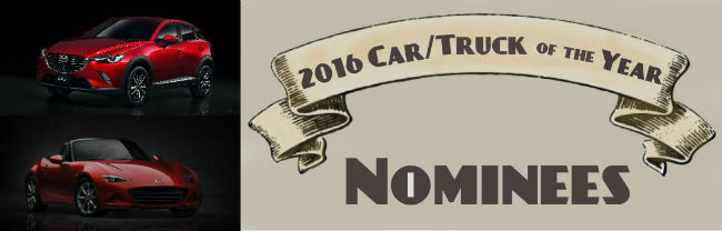 2016 North American Car and Truck of the Year Nominees 2016 mazda miata mx-5 2016 mazda cx-3