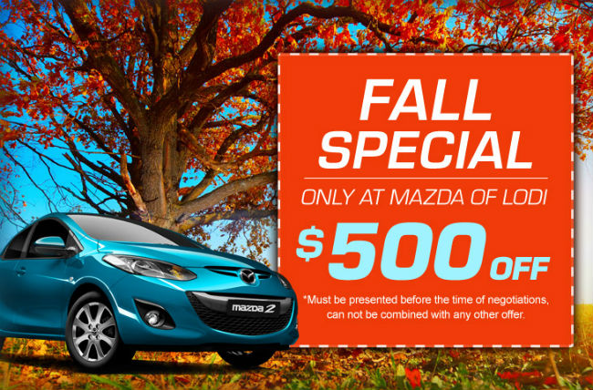 Save $500 at Mazda of Lodi!