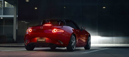 mazda miata taillight design in led