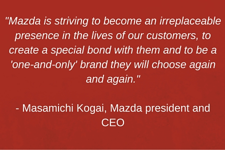 quote from Mazda president and CEO