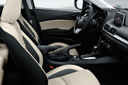 2016 mazda 3 with two tone leather seats