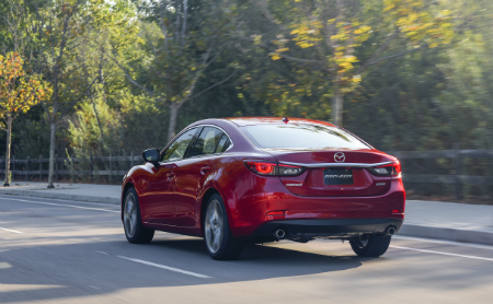 2017 mazda6 driving on city road
