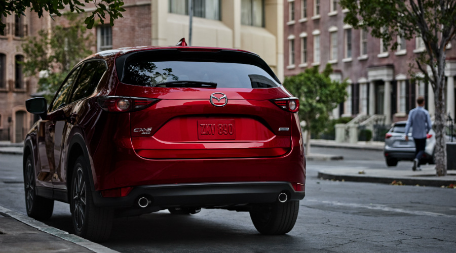2017 mazda cx-5 rear hatch bumper design changes