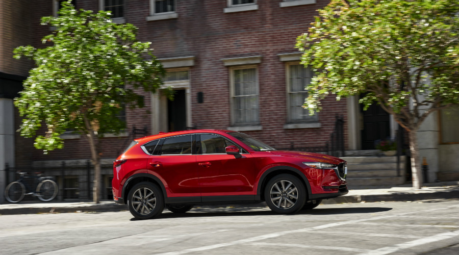 2017 mazda cx-5 driving in the city