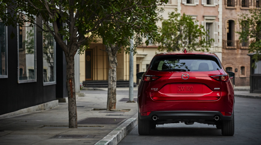 2017 mazda cx-5 parked on street