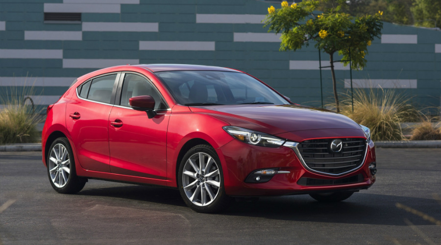 2017 Mazda3 in a parking lot