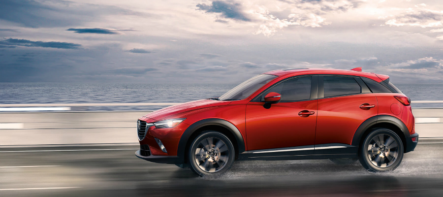 2017 mazda cx-3 driving on wet roads