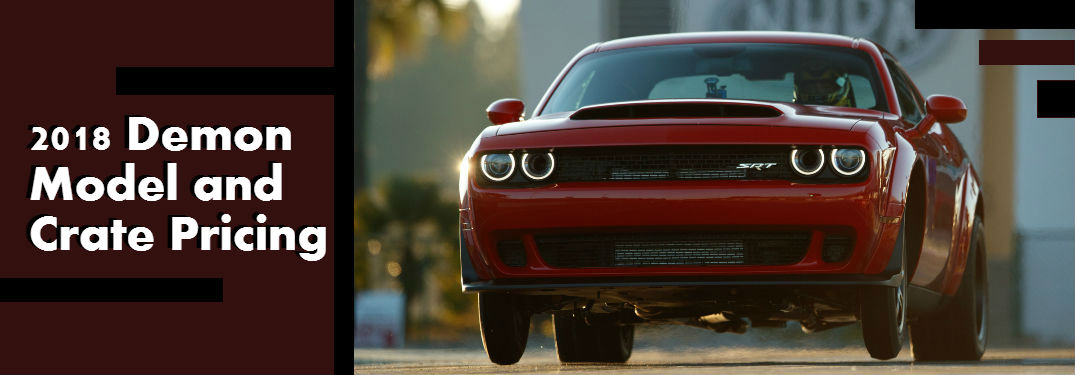 2018 Dodge Challenger Srt Demon Pricing And Crate Contents