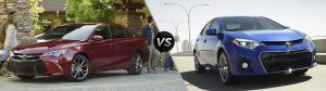 How big is the Toyota Camry compared to the Corolla?