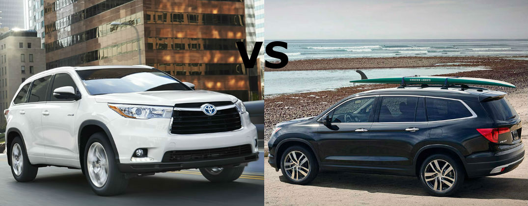 2015 toyota highlander vs 2016 honda pilot. Black Bedroom Furniture Sets. Home Design Ideas