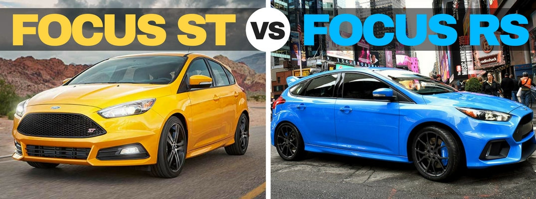 2016 Ford Focus ST vs RS