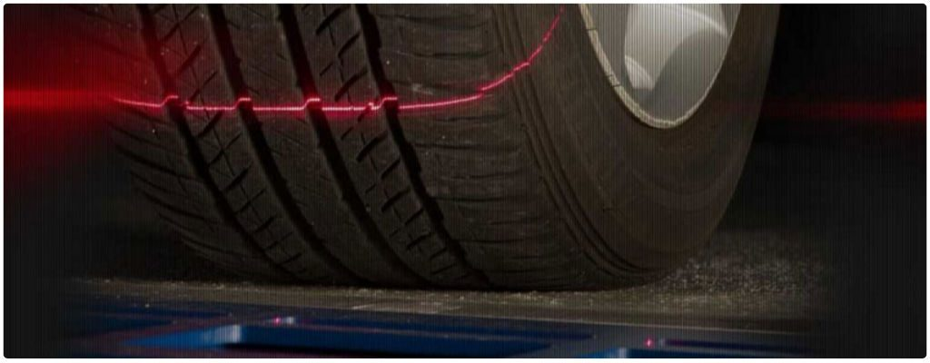 Laser Powered Tire Plus Alignment Inspection