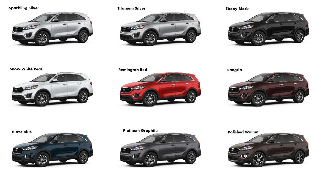 2017 Kia Sorento Colors And Exterior Accessories