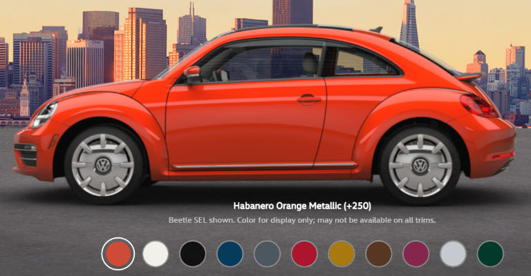 volkswagen beetle color options