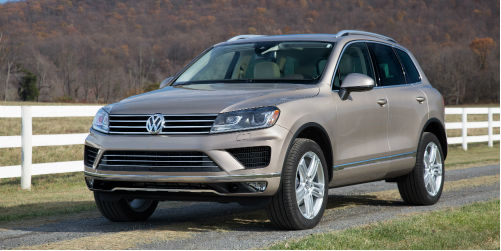 What is standard on the 2017 VW Touareg?