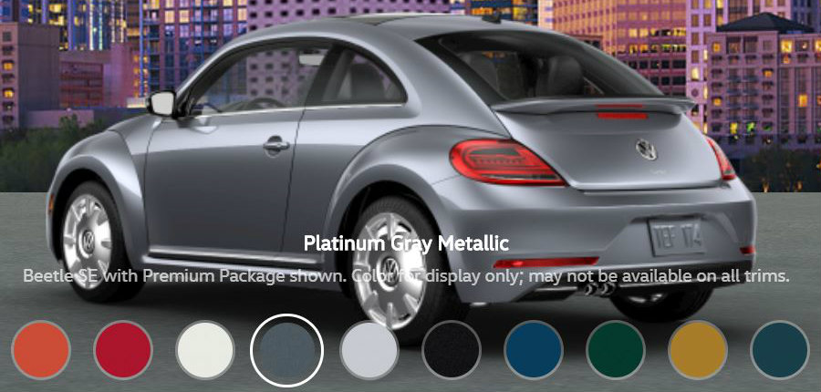 What Paint Colors are Available for the 2018 Volkswagen Beetle?
