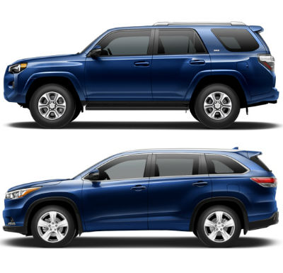 Toyota 4Runner Towing Capacity >> 2015 Toyota 4Runner vs. 2015 Toyota Highlander